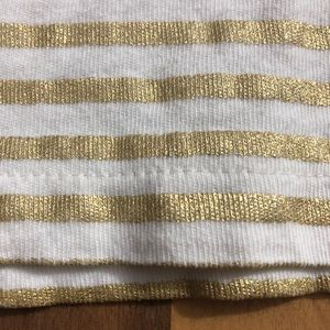 J. Crew Factory Tops - J Crew Factory Size Medium Gold Shimmer Stripe Top
